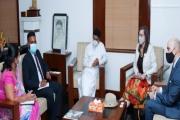 A bilateral meeting held between the Minister of Energy Udaya Gammanpila and the USA Ambassador Alaina B Teplitz