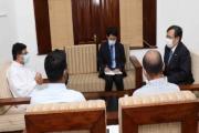 A bilateral meeting was held between Hon Minister Udaya Gammanpila and HE Ambassador of Japan Akira Sugiyama at the Ministry of Energy.